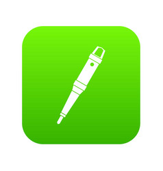 Grip of tattoo machine icon digital green vector
