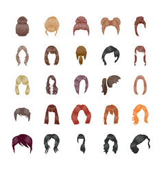 Hairstyles icons pack vector