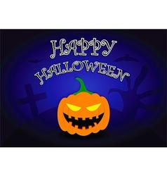 Halloween background with pumpkin head vector