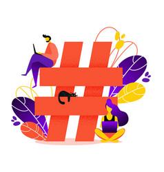 Hashtag vector