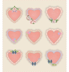 Heart Stickers vector image