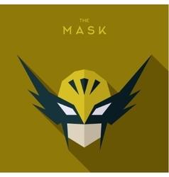 Hero in yellow mask defender flat vector