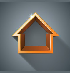 House abstract 3d icon vector