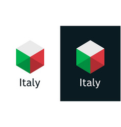 icon italian flag on black and white vector image