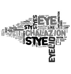 Is eye sty cancerous text background word cloud vector