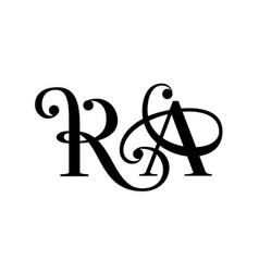 letter r and a floral forging logo simple style vector image