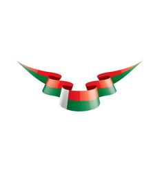 Madagascar flag on a white vector