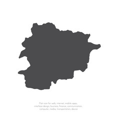 Map andorra isolated black vector