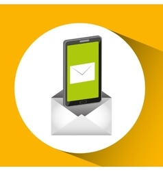 Mobile cellphone email message send icon vector