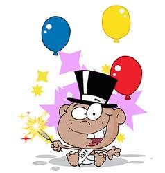 New years baby cartoon vector image