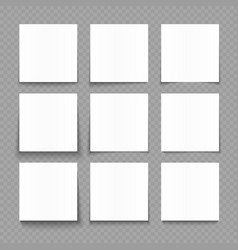 Notepad blank sheets white paper with shadow vector