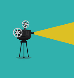 old vintage camera movie on tripod vector image
