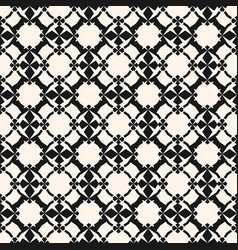 Ornamental pattern with floral shapes mesh grid vector