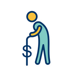 Pension icon vector