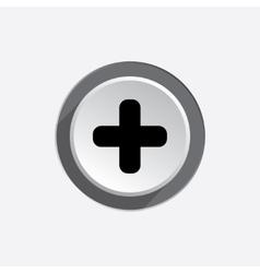 Plus sign icon Positive symbol Zoom in Black vector
