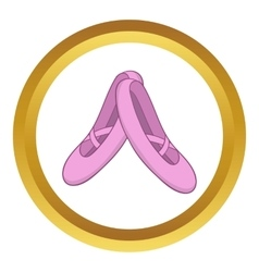 Pointe shoes icon vector