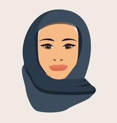 Portrait a muslim woman in hijab vector