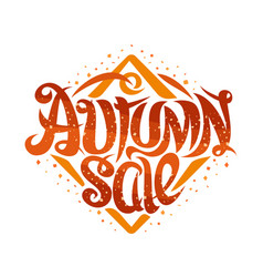 Poster for autumn sale vector