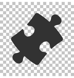 Puzzle piece sign Dark gray icon on transparent vector