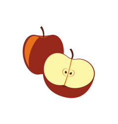 Red apple isolated icon vector