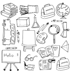 School education object doodles vector