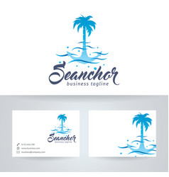 sea anchor logo design vector image