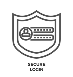 Secure Login Line Icon vector