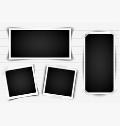 set of retro photo frames with shadows vector image