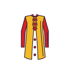singapore traditional costume icon cartoon style vector image