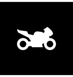 Sport motorcycle icon vector