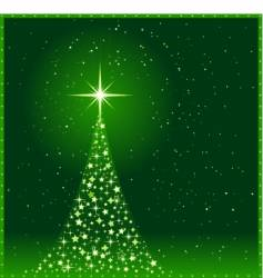 square green Christmas tree vector image