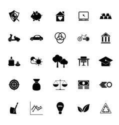 Sufficient economy icons on white background vector