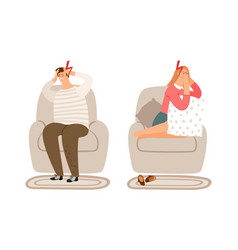 tired people concept vector image