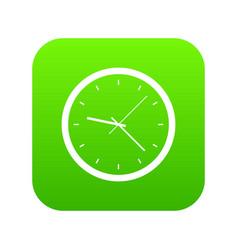 wall clock icon digital green vector image
