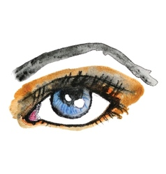 Watercolor hand drawn eye Make up vector image