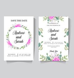 wedding invitation card 2 vector image