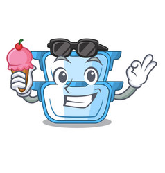 With ice cream double boiler character for the vector