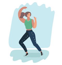woman dancer move vector image
