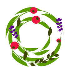 Wreath perfect for invitations greeting cards vector