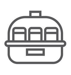 yogurt maker line icon kitchen and electric vector image