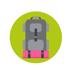 backpack icon hiking bag travel baggage vector image