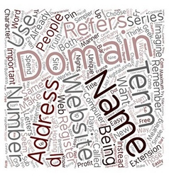 How Important Are Domain Names text background vector image vector image