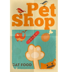 pet shop poster cat vector image vector image