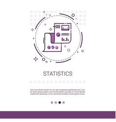 statistics analysis concept finance diagram data vector image