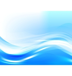 stylized water waves vector image