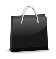 Black Shopping Bag vector image vector image
