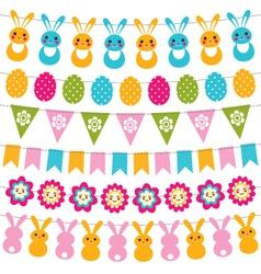 Easter garlands set vector image