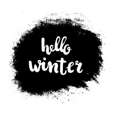hello winter grunge vector image