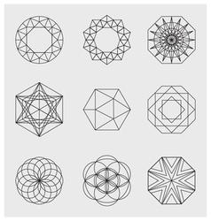 LINE design elements vector image vector image