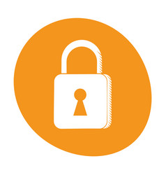 padlock security system technology image vector image vector image